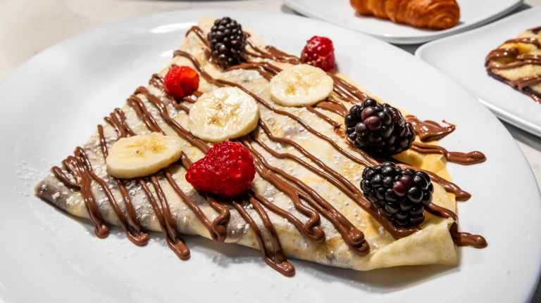 The Nutella Cafe in Union Square lets you create your own delights, including crepes.