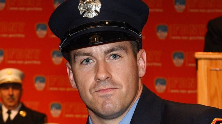 FDNY firefighter Steven Pollard was killed in a fall from the Mill Basin Bridge in Brooklyn Sunday night.