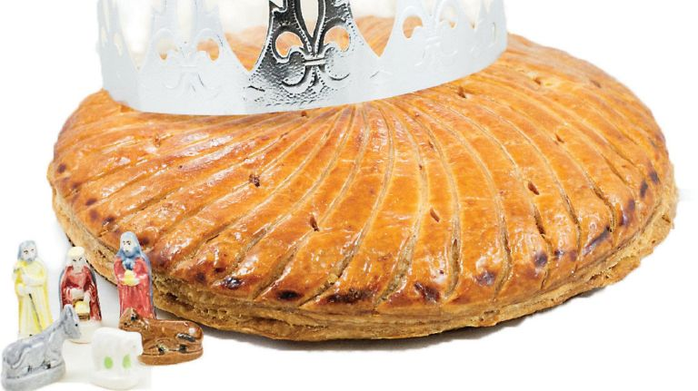 Mille-Feuille Bakery's galette des Rois (king cake), which is filled with almond cream and frangipane, is sold December through March.