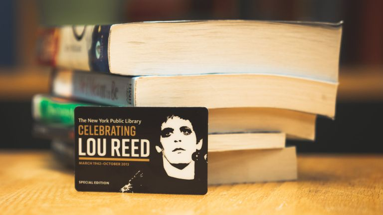 The New York Public Library is making its Lou Reed archive available to the public for the first time on March 25. It is being commemorated with a special library card featuring an image of the legendary NYC musician.