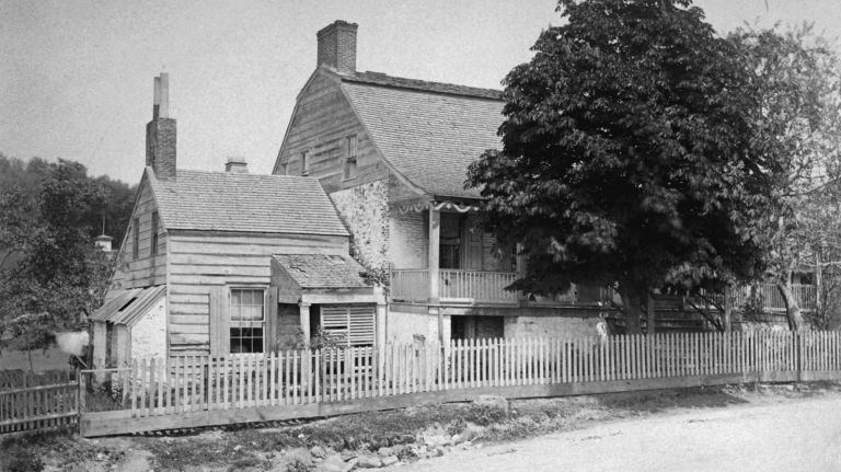 This is the earliest known photograph of the Dykman farmhouse, taken circa 1870.
