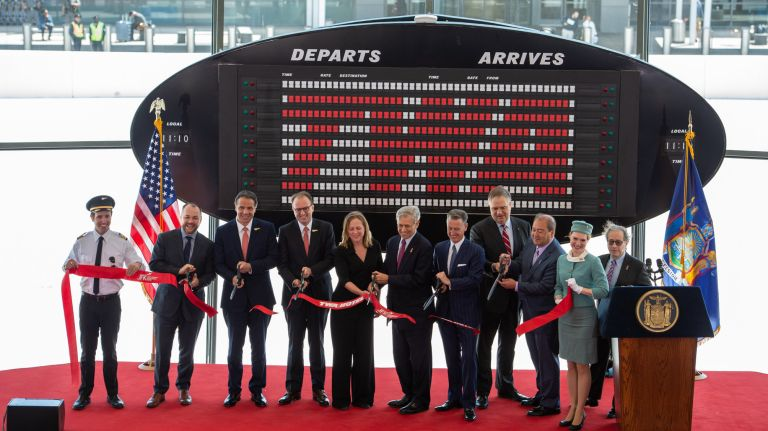 A ribbon cutting on Wednesday officially opened the revamped terminal.