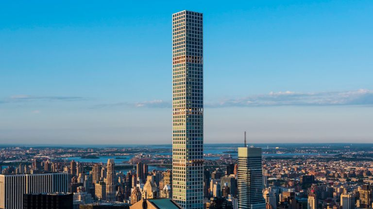 The tower at 432 Park Ave. topped out at 1,396 feet on Oct. 14, 2014, making it the tallest residential building in the Western Hemisphere. At that height, 432 Park Ave. is now taller than the Empire State Building and taller than One World Trade Center without its spire. The cornerstone of the city's new