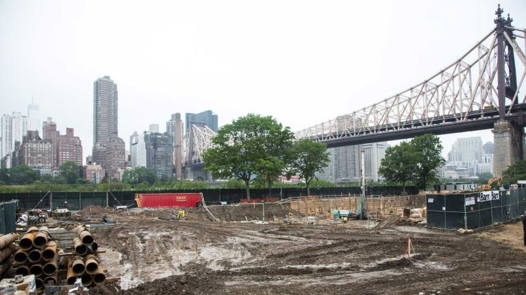 The site of Cornell Tech's new campus on Roosevelt Island on June 16, 2015.