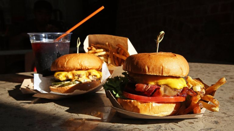 Harlem Burger Co. Company burger comes with an array of options, including jalapeno and bacon.