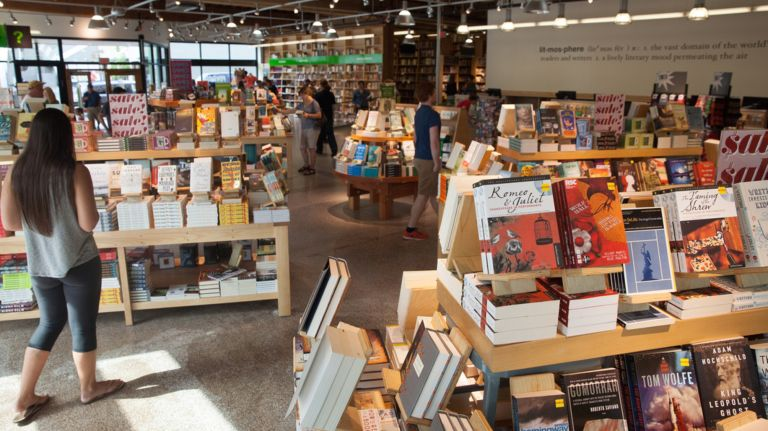 Powell's Books offers miles and miles of books in its aisles.