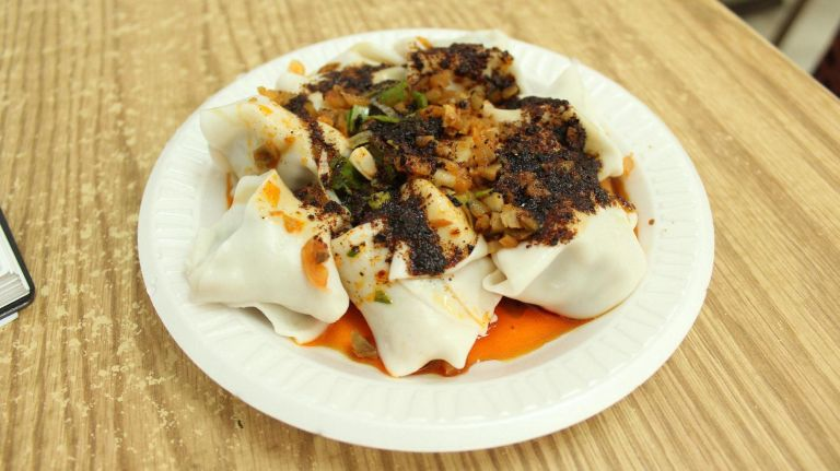 You want dumplings? White Bear has them, including the No. 6 -pork dumplings with mildly spicy pepper sauce.
