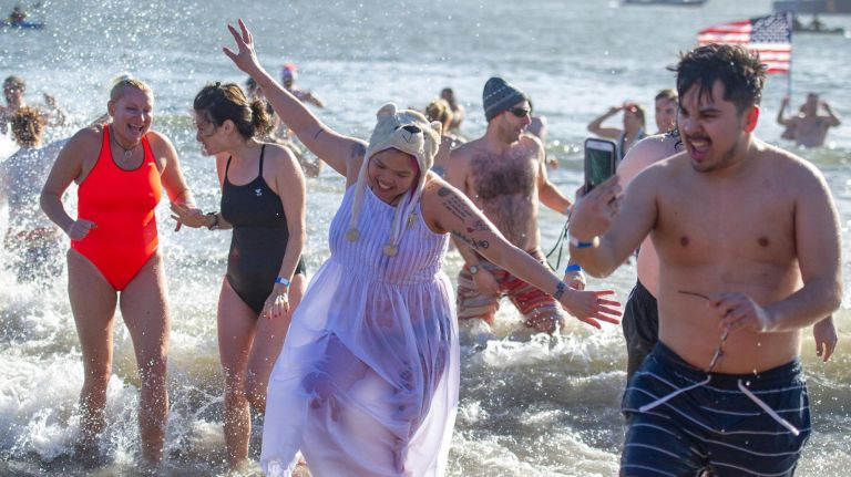 The 115th annual Coney Island pluge saw thousands participate.