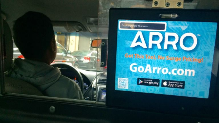"""<p>Arro, designed to work with the city's yellow cabs, promised a speedy pickup with no surge pricing. The first attempt failed; the app cancelled the trip without a message. Perhaps the cabbie found a more lucrative pickup. The second attempt was successful.</p> <p>Driver M.D. Islam said he started using the Arro app two to three months ago. """"It's good but sometimes I accept but a few seconds [later] they decline the service. They can't wait. They take a different cab,"""" he said. His opinion was that people wouldn't wait more than five or seven minutes before picking up another cab.</p> <p>Arro spokesman Michael Woloz said e-hails were proving """"very convenient."""" </p> <p>""""In Arro, you get the convenience of an e-hail and the affordability and certainty of a taxi meter that never surge prices,"""" he added.</p> <p><strong>Time and cost:</strong> It took approximately 15 minutes to get a car using Arro. Woloz said the average wait time for Arro is around three minutes. It cost $11.15 including $1.85 tip. Arro provides no fare calculator but bases its fees on TLC regulations. Strangely, payment had to be made through the in-car credit card system instead of the app. Woloz said it was unusual that payment had to be made through the cab's fare system, instead of via the app.</p> <p>"""" data-id=""""111134837″ data-link=""""https://amnewyork.wpengine.com/wp-content/uploads/2019/10/9189_image.jpg"""" class=""""wp-image-1.11134837″/><figcaption> Photo Credit: Cristian Salazar </figcaption></figure> </li> <li class="""