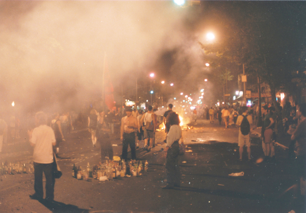 Protesters took over Avenue A — as they often did — in 1991.   Photos by Clayton Patterson