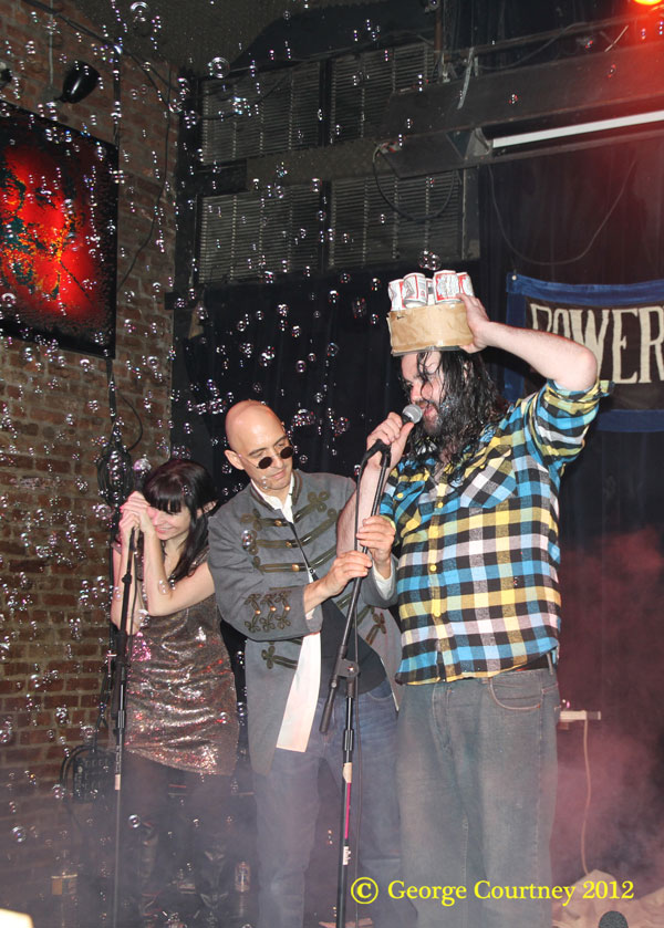 Photo by George Courtney Isn't he lovely: Having just heard his name announced by Rev. Jen and Faceboy, Moonshine — basking in a shower of bubbles — gracefully accepts his crown.