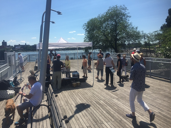 "Upper East Side residents enjoy ""Summer Sizzle,"" sponsored by the Friends of the East River Esplanade, on August 7. 