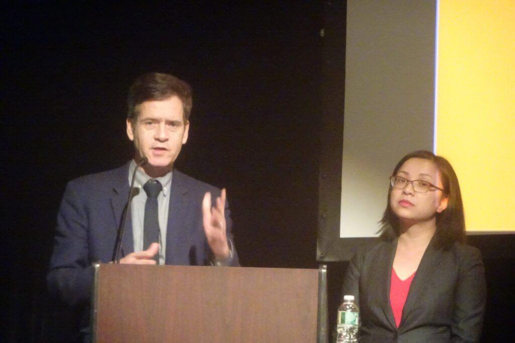 State Senator Brad Hoylman and Gigi Li, Chief of Staff for Margaret Chin (Photo by William Engel)
