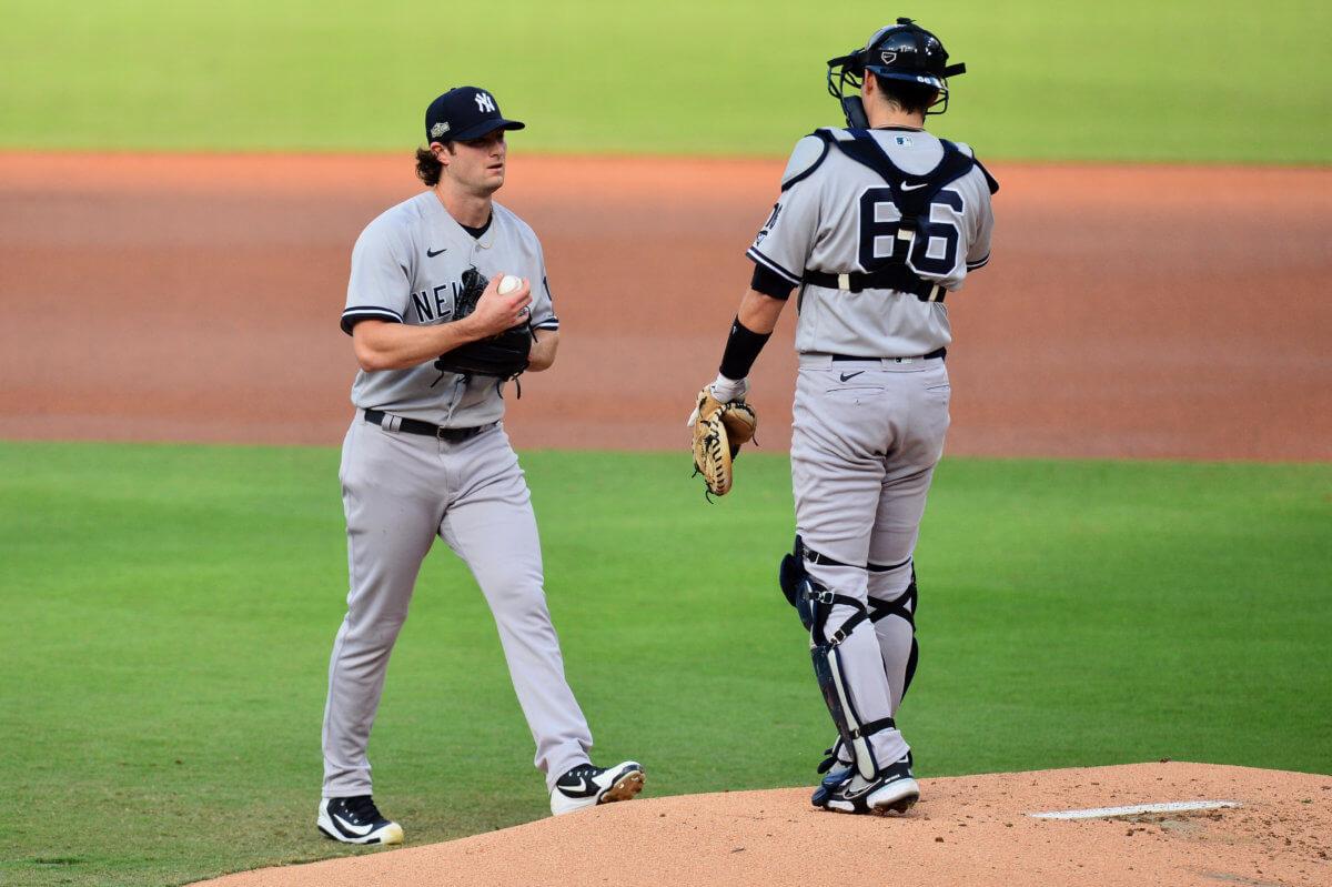 Gerrit Cole Kyle Higashioka Yankees