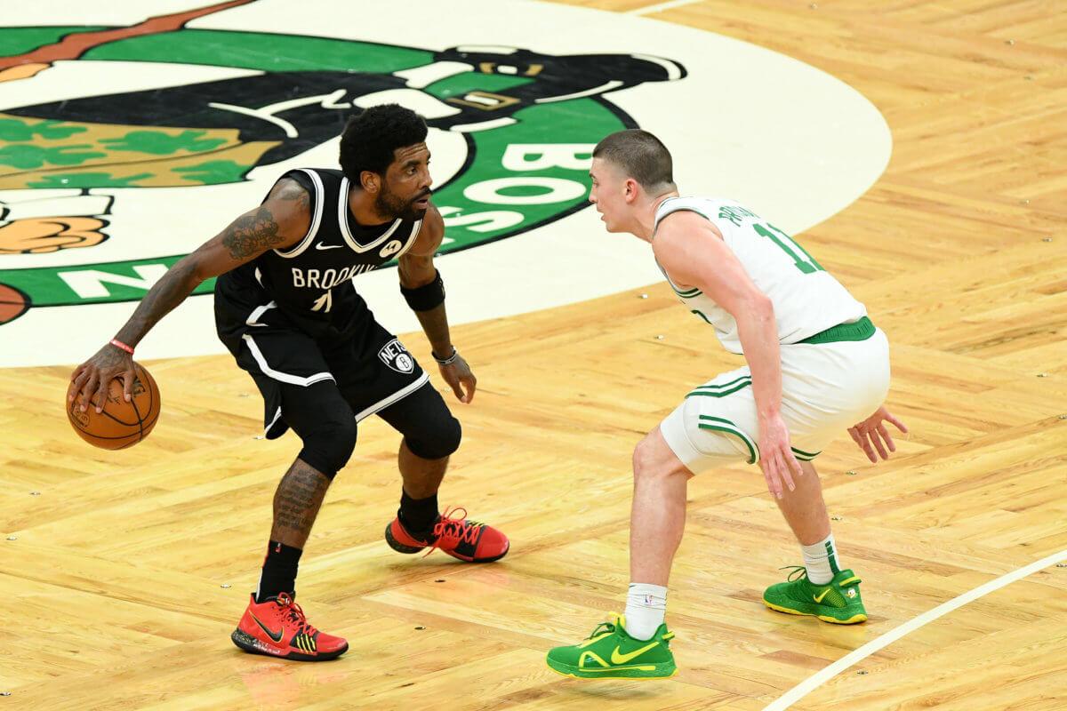 Kyrie Irving Celtics Nets water bottle