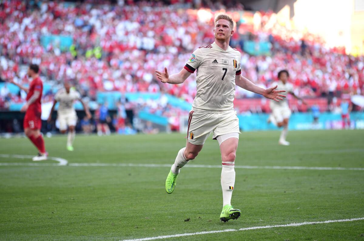Kevin De Bruyne Belgium Euro 2020 Denmark