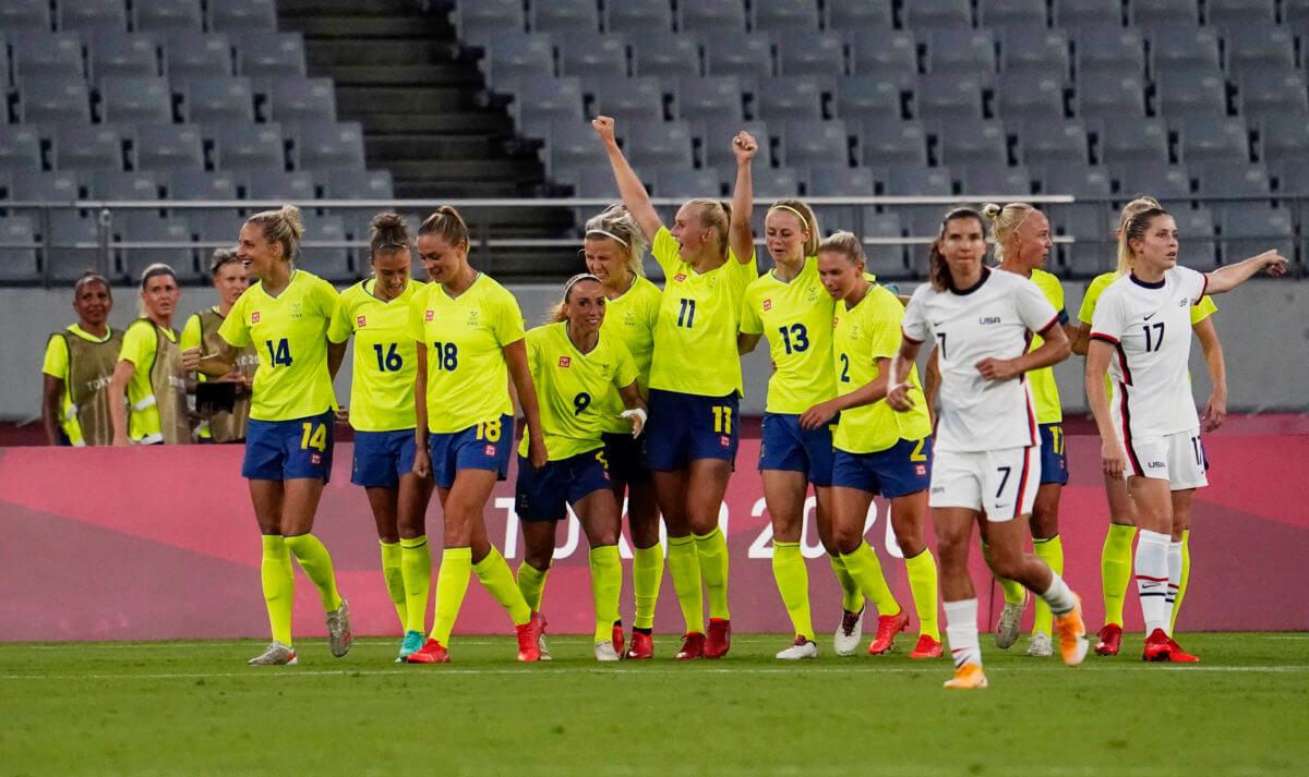 US women's soccer Sweden Olympics
